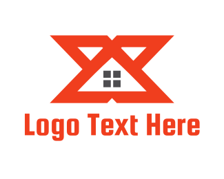 Orange House - Orange Roof X Housing  logo design