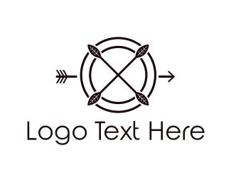 Hunt - Target & Arrow logo design