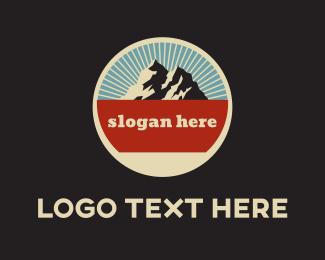 Explore - Mountain Circle logo design