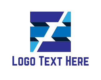 Business - Blue Business Cube logo design