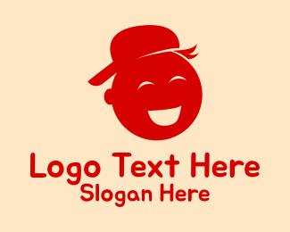 Preschool - Happy Preschooler Kid logo design