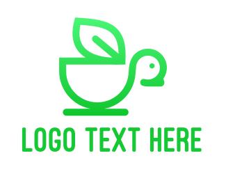 Free Range - Monogram Bird Leaf logo design