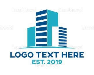 Business Center - Geometric Real Estate  logo design