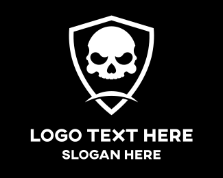 Egames - Skull Head Shield logo design