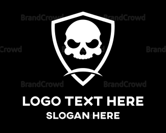 Apex - Skull Head Shield logo design