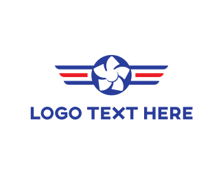 Propeller - Aviation Propeller logo design