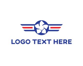 America - Aviation Propeller logo design