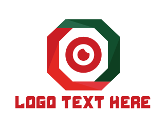 Bullseye - Hexagon Lens logo design