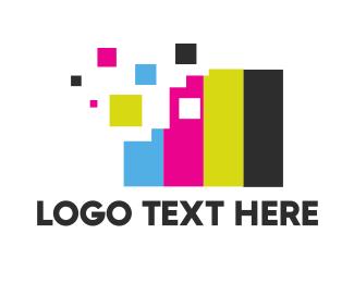 It Company - Pixel Colors logo design