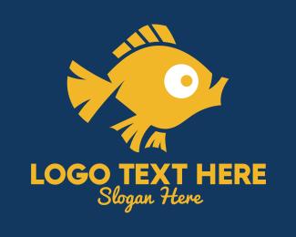 Goldfish - Pet Goldfish  logo design