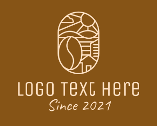 Farm - Rural Coffee Farm logo design