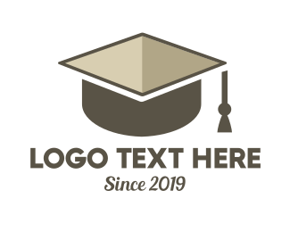 Learn - Graduation Box logo design