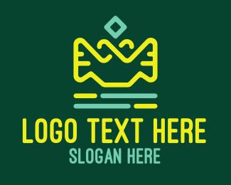Oil - Green & Yellow Lamp Lantern logo design