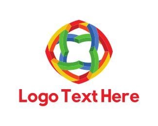 Psychedelic - Geometric Flower logo design