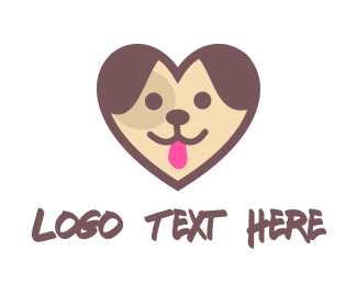 Dog Sitting - Puppy Dog Heart logo design