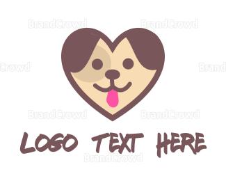 Dog Walking - Puppy Heart logo design