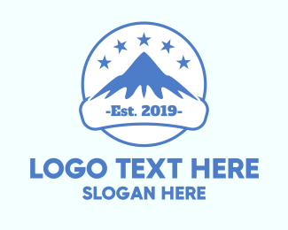 Ski - Mountain Peak Alps logo design