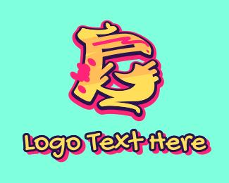 Graffiti Art - Graffiti Art Letter G logo design
