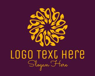 Detailed - Orange Mandala Sunflower logo design