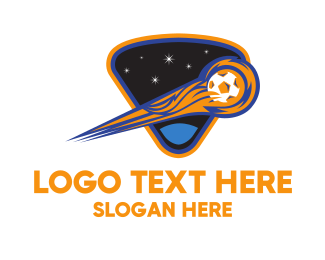 Goal - Comet Soccer Ball logo design