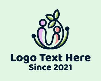 Child - Leaf Mother & Child logo design