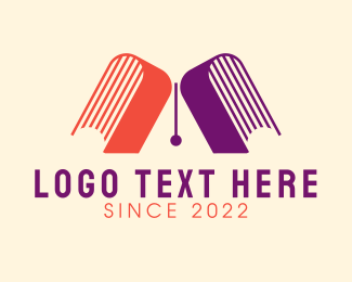 Letter A - Letter A Bookstore logo design