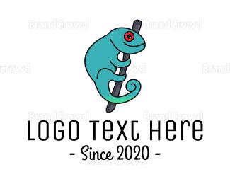 Camouflage - Gradient Chameleon  logo design