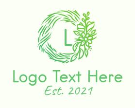 Letter - Green Flower Lettermark logo design