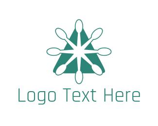 Teaspoon - Green Spoon Triangle Restaurant logo design