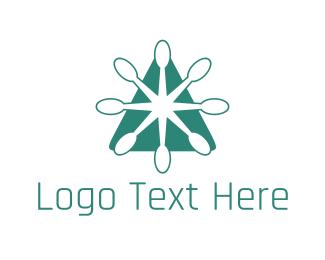 Spoon - Green Spoon Triangle Restaurant logo design