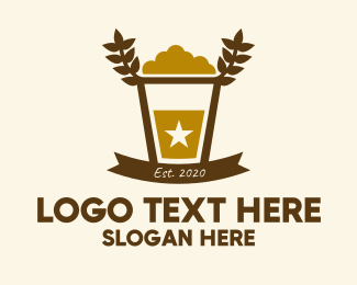 Bourbon - Star Barley Beer Pub logo design