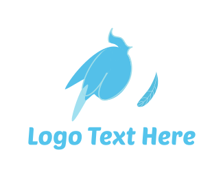 Feather - Blue Feather logo design
