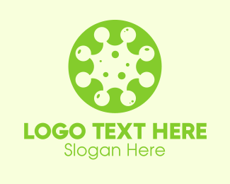 Pathogen - Green Virus Particle logo design