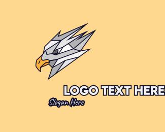Concrete - Silver Grey Bird Mascot logo design