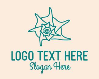 Shellfish - Beach Sea Shell logo design