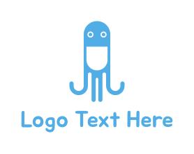 Squid - Octopus Pill logo design