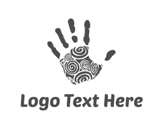 Finger - Black Hand logo design