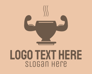 Supplements - Strong Hot Drink logo design