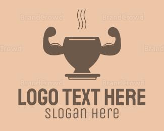 Protein Shake - Strong Coffee logo design
