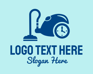 Time - Hoover Cleaning Time logo design