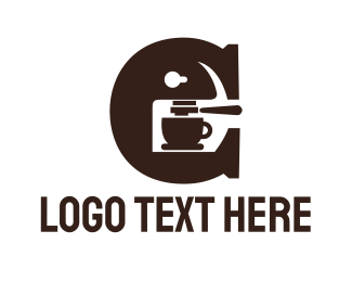 Coffee Maker - Abstract C Coffee Maker logo design