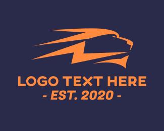 Lightning Bolt - Lion Lightning Bolt logo design