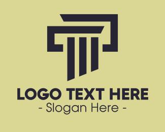 Architecture - Elegant Pillar Concrete logo design