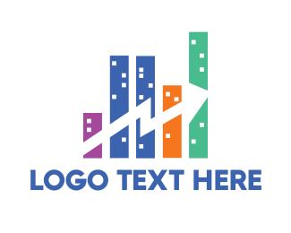 Stock Market - Chart City logo design