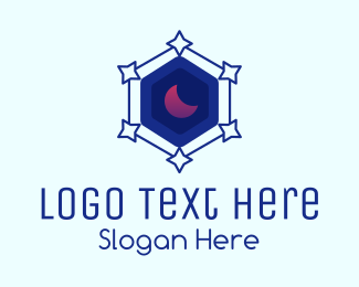 Star - Star Hexagon Moon logo design