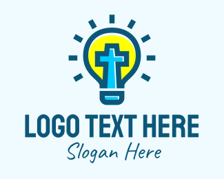 Bulb - Religious Light Bulb logo design