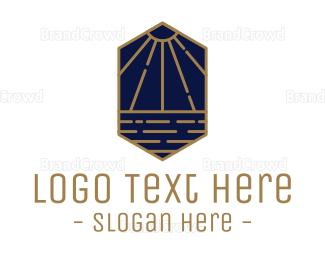 Water - Luxurious Sunbeam logo design