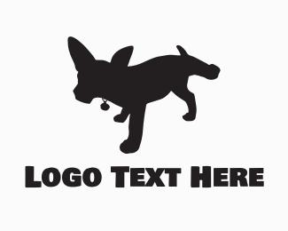 Bad - Black Dog Silhouette logo design