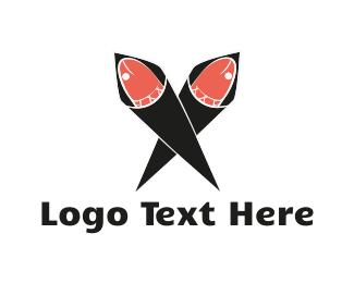 Salmon - Sushi Hand Roll logo design