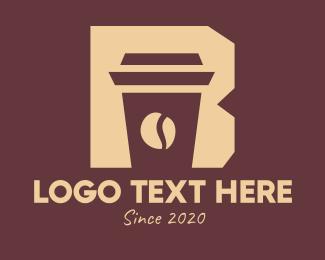Coffee Time - Barista Coffee Cafe Letter B logo design